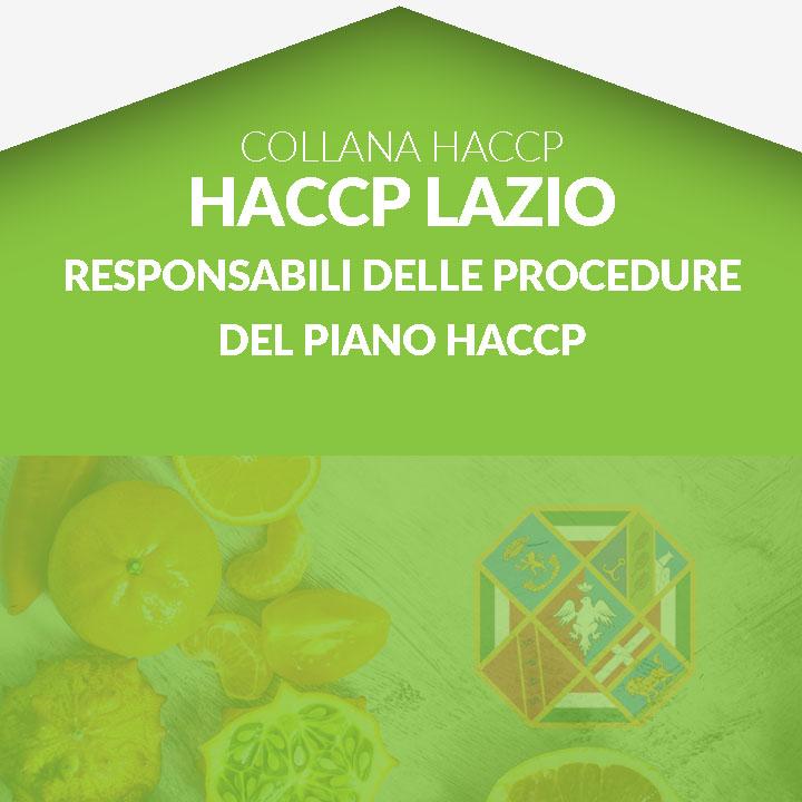 Corso in aula  HACCP LAZIO - Responsabili della gestione delle procedure del piano HACCP